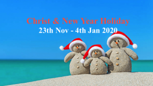 Christmas and New year Holiday 2019 and 2020